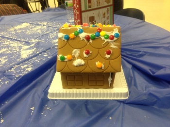 The gingerbread house that Rasheedah  Russell and her co-workers created.Photo Credit: Rasheedah Russell