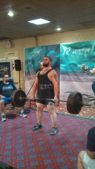 Ryan Critti in the middle of a deadlift Photo Credit: Ryan Critti