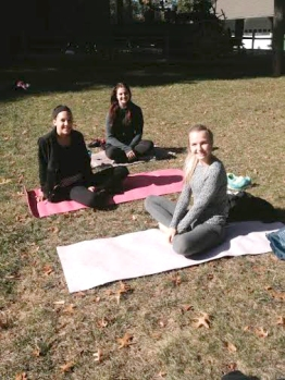 Yoga in the garden photo