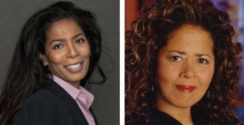 Judy Smith (left) and Anna Deavere Smith were announced as Kean's new commencement speakers on April 24, 2015. Photo courtesy of Kean University.