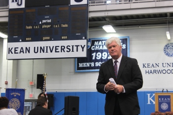Kean University Vice President Philip Connelly speaks at an open house event on Sept. 26, 2015. Credit: Rebecca Panico