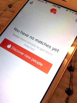 The popular phone app for dating, Tinder, which is highly popular among young adults.
