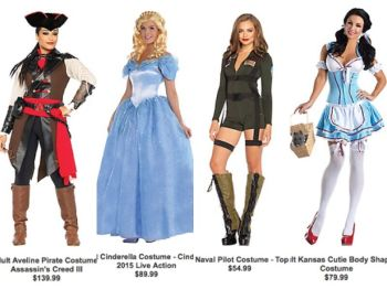 A look at some costumes that are being sold for this year's Halloween.