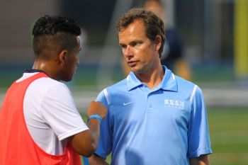 In his two years as head coach, Irvine has a record of 25-10-2. Under Rob Irvine, the men's soccer team has had a resurgence, going 10-1 in the month of September.