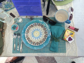 April Schenesky Wyckoff's story and place setting. Photo: Kristen DeMatos