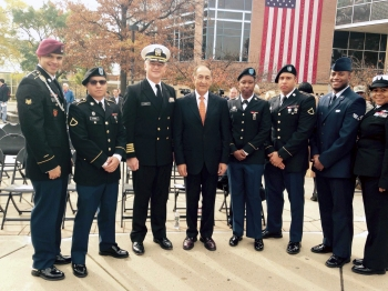 Veterans Day ceremony 2014. Photo: Military and Veterans Club of Kean University
