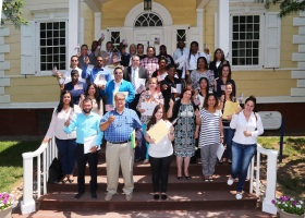 Thirty-five new U.S. citizens from 22 countries were sworn in June 20 at the Liberty Hall Museum's first naturalization ceremony at Kean University. (Photo courtesy of Kean University)